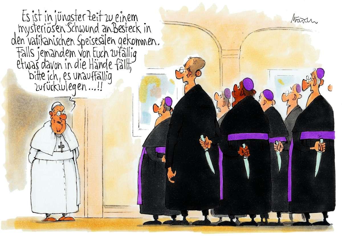 Karikatur Franziskus Vatikan